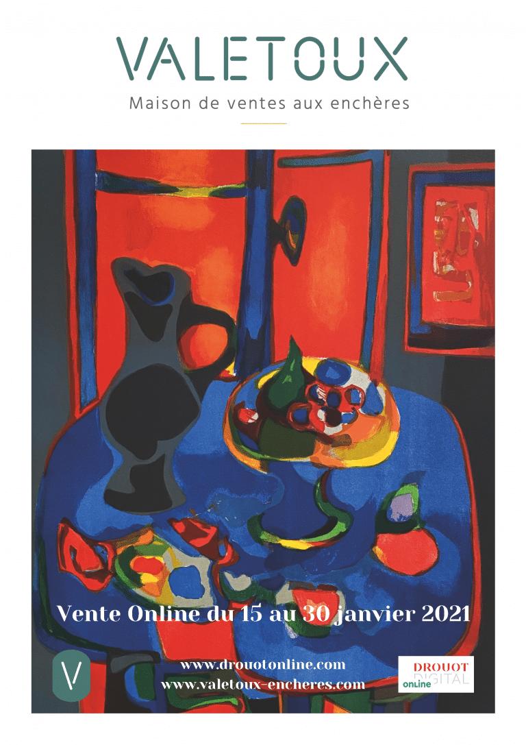 Affiche vente janvier 2021 BVA VAletox Encheres Paris St Germain en Laye - Drouot Digital