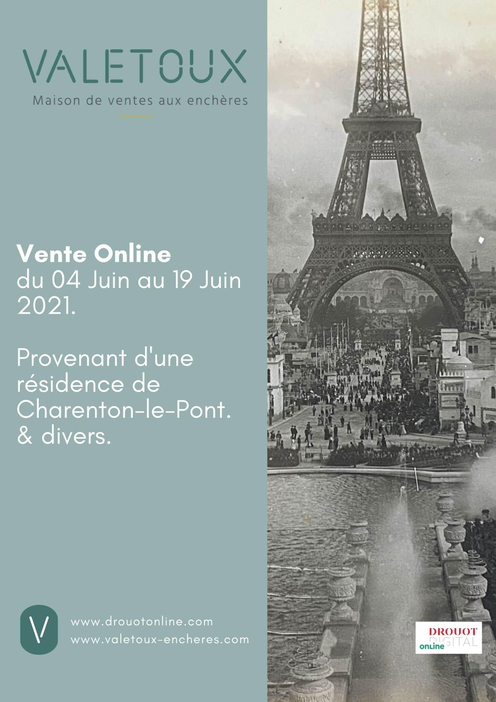 Affiche vente online juin 2021